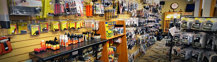 Bows & Hunting Accessories Display